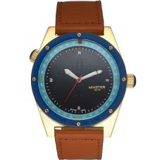 Minster 1949 Mens Fryston Brown Leather Strap Watch MN05BKGL10