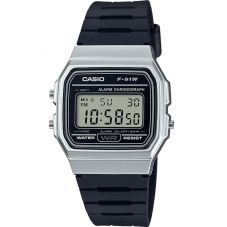 Casio CASIO Collection Men Digital Black Resin Strap Watch F-91WM-7AEF
