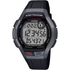 Casio CASIO Collection Step Tracker Digital Black Plastic Strap Watch WS-2000H-1AVEF