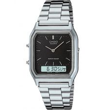 Casio CASIO Collection Retro Dual Display Black Bracelet Watch AQ-230A-1DMQYES