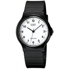 Casio CASIO Collection Men Black Plastic Strap Watch MQ-24-7BLL