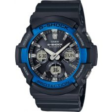 Casio G-Shock Classic Solar Dual Display Blue Plastic Strap Watch GAW-100B-1A2ER