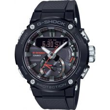 Casio G-Shock G-Steel Carbon Core Guard Bluetooth Solar Dual Display Blue Plastic Strap Smartwatch GST-B200B-1AER