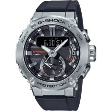 Casio G-Shock G-Steel Carbon Core Guard Bluetooth Solar Dual Display Blue Plastic Strap Smartwatch GST-B200-1AER