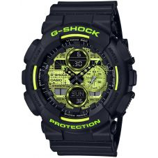 Casio G-Shock Classic Yellow Digital Camouflage Watch GA-140DC-1AER