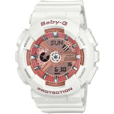 Casio G-Shock Baby-G Dual Display White Plastic Strap Watch BA-110-7A1ER
