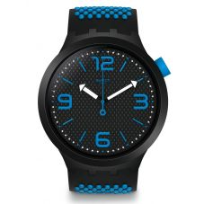 Swatch BBBlue Blue Rubber Strap Watch SO27B101