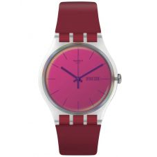 Swatch Unisex Polared Red Strap Watch SUOK717