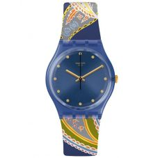 Swatch Unisex Silky Way Rubber Strap Watch GN263