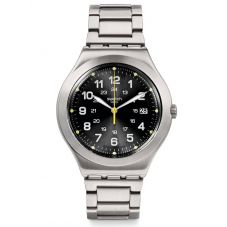 Swatch Happy Joe Lime Black Dial Stainless Steel Bracelet Watch YWS439G