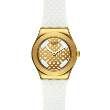 Swatch Ladies Moucharabia Gold Plated Strap Watch YSG149