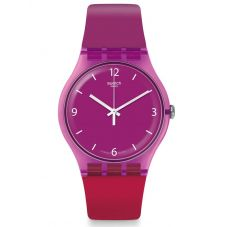Swatch Cherryberry Purple Rubber Strap Watch SUOV104