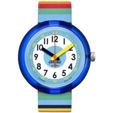 Flik Flak Stripybow Multicoloured Fabric Strap Watch FPNP056