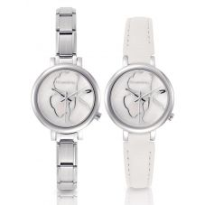 Nomination CLASSIC Paris White Flower Dial Watch with Spare Strap 076000/013
