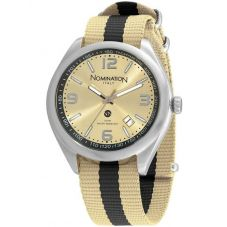 Nomination Mens Cruise Gold Fabric Watch 077100/019