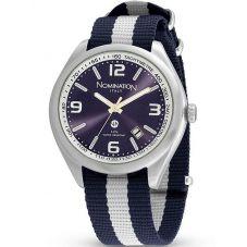Nomination Mens Cruise Black Fabric Watch 077100/022