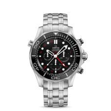 Omega Mens Seamaster Diver GMT Bracelet Watch 212.30.44.52.01.001