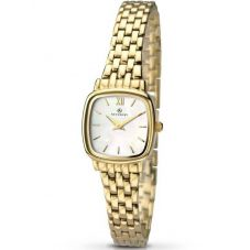 Accurist Ladies Gold Plated Mother Of Pearl Bracelet Watch 8068