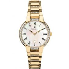 Accurist Ladies Signature Gold Plated Mother Of Pearl Watch 8220