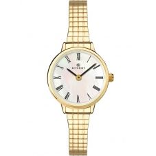 Accurist Ladies Gold Plated Mother Of Pearl Expandable Watch 8209