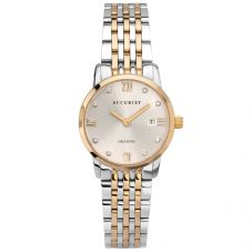 Accurist Ladies Signature Diamond Set Dial Two Tone Bracelet Watch 8339