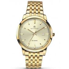 Accurist London Mens Gold Watch 7019