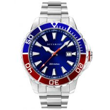 Accurist Mens Signature Divers Style Blue Dial Bracelet Watch 7327