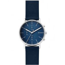 Skagen Mens Signatur Blue Chronograph Strap Watch SKW6463
