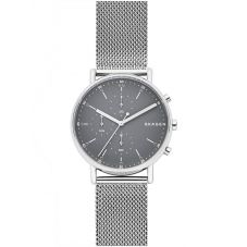 Skagen Mens Signatur Grey Chronograph Bracelet Watch SKW6464