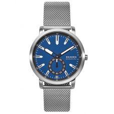 Skagen Mens Colden Stainless Steel Blue Dial Mesh Strap Watch SKW6610