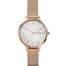 Skagen Anita Rose Gold Plated Mesh Bracelet Watch SKW2633