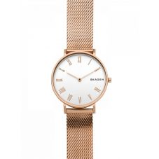 Skagen Ladies Hald Rose Gold Plated Mesh Bracelet Watch SKW2714