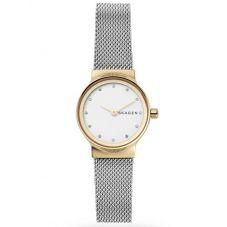 Skagen Ladies Freja Two Colour White Dial Bracelet Watch SKW2666