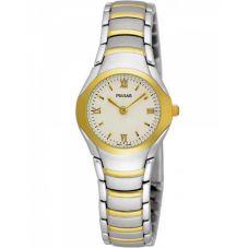 Pulsar Ladies Two Tone Bracelet Watch PEG406X1
