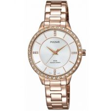 Pulsar Ladies Rose Gold Plated Bracelet Watch PH8220X1