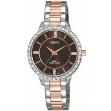 Pulsar Ladies Two Tone Stone Set Bracelet Watch PH8217X1
