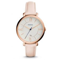 Fossil Jacqueline Date Blush Leather Strap Watch ES3988