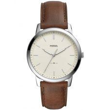 Fossil Mens Minimalist Brown Strap Watch FS5439