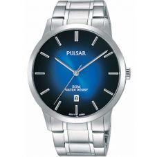 Pulsar Mens Blue Dress Watch PS9527X1