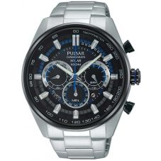 Pulsar Mens Blue Multifunctional Watch PX5019X1