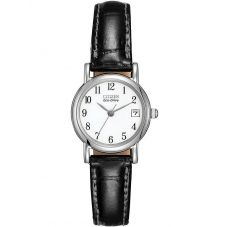 Citizen Ladies Black Leather Strap Watch EW1270-06A