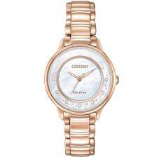 Citizen Ladies CITIZEN L Circle Of Time Diamond Rose Tone Bracelet Watch EM0382-86D