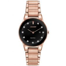 Citizen Ladies Axiom Diamond Rose Bracelet Watch GA1058-59Q