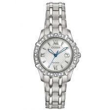 Citizen Ladies Silhouette Diamond Bracelet Watch EW2360-51A