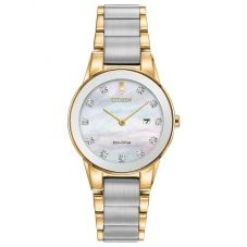 Citizen Ladies Axiom Diamond Two Tone Bracelet Watch GA1054-50D