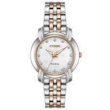 Citizen Ladies Jolie Diamond Two Colour Bracelet Watch EM0716-58A