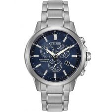 Citizen Mens Chandler Super Titanium Chronograph Bracelet Watch AT2340-56L