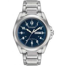 Citizen Mens Chandler Day-Date Navy Dial Bracelet Watch AW0050-58L
