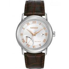 Citizen Mens PRT Brown Leather Bracelet Watch AW7020-00A