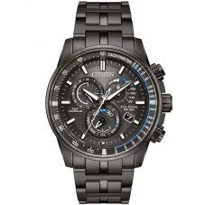 Citizen Mens PCAT Gunmetal Bracelet Watch AT4127-52H
